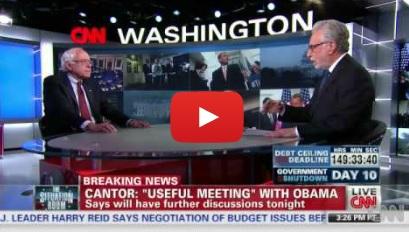 Watch Bernie and Wolf Blitzer on CNN.