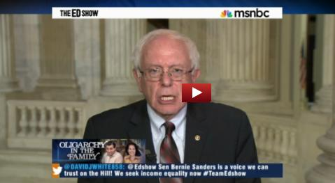 Watch Bernie and Ed Schultz on MSNBC