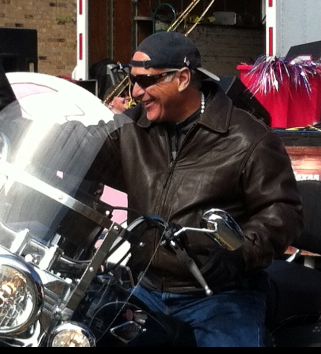Sen. Watson on motorcycle