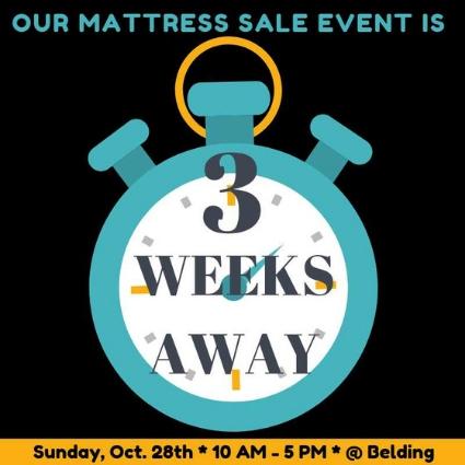 Belding Mattress Sale - 3 Wks
